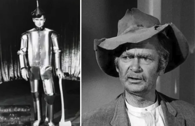 Buddy Ebsen dressed as the Tin Man