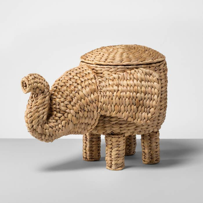 """""""I bought this super cute elephant basket at target because it was on sale and elephants are my favorite animal."""" —bavanij3Get it from Target for $24.99."""