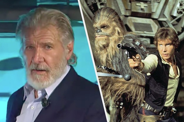 Harrison Ford's Beautiful Dedication To Peter Mayhew At The Galaxy's Edge Ceremony Will Make You Emotional