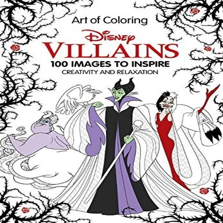 the cover of the book with cruella, ursula, and maleficent on it