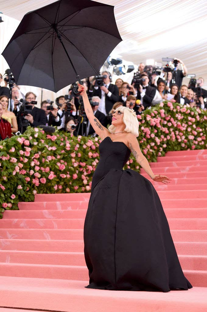 Lady Gaga in her black outfit at the MET GALA 2019