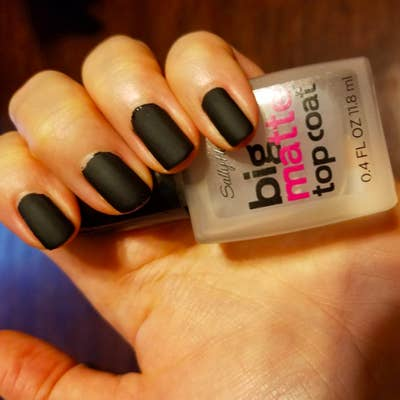 a76b6714db A quick-drying mattifying top coat so you can ~nail~ the trendy matte mani  without dropping a ton of dough.