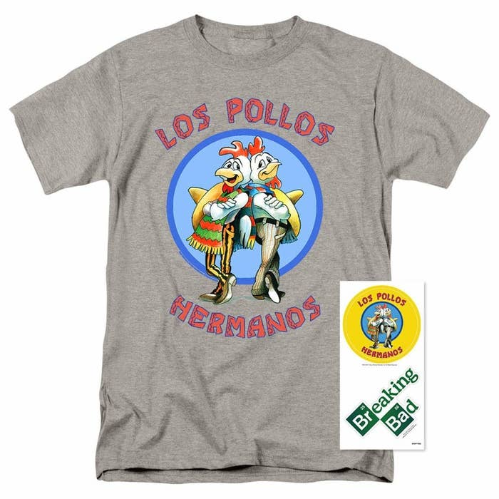f2059b95 A stylish Los Pollos Hermanos T-shirt (that comes with stickers!!!) for  anyone who has watched about 50 shows since Breaking Bad ended and has yet  to find ...