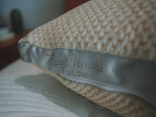 a woven, soft, pillow