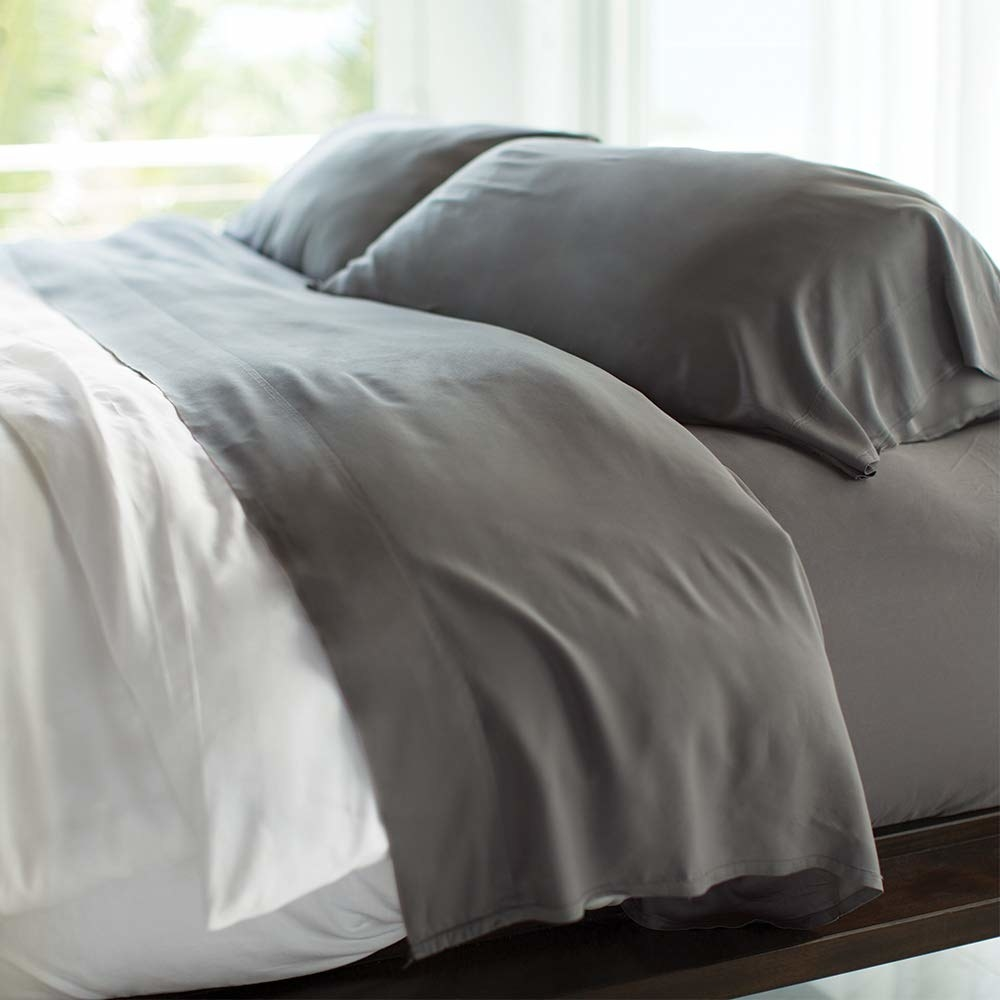 the sheets in dark grey