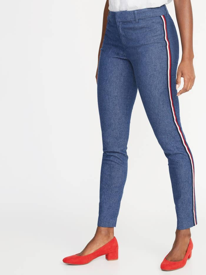 fa663ef7c9 Striped ankle pants for a combo of professional and athleisure — and they  will fit just the way you love.