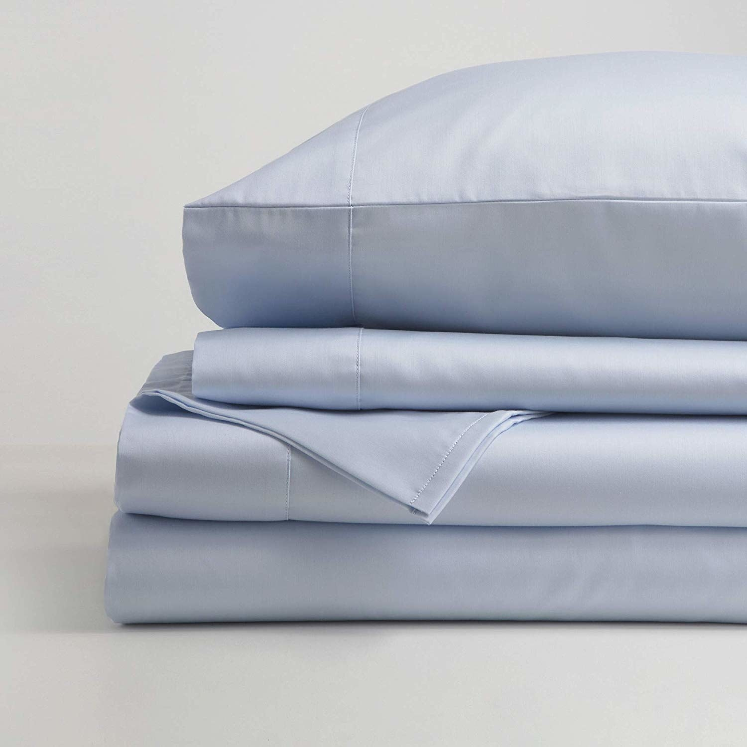 the sheets in light blue