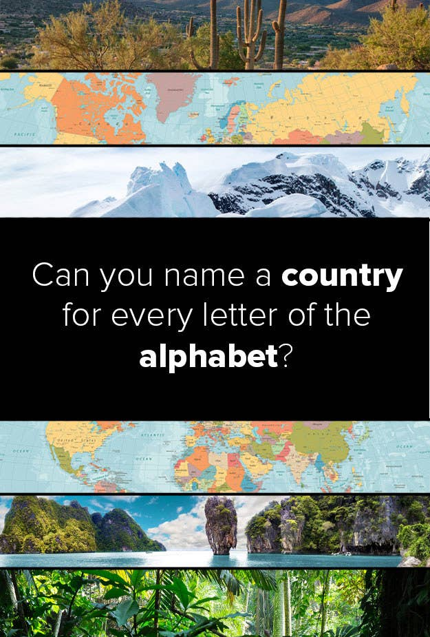 Countries Containing The Letter Z.Can You Name A Country For Every Letter Of The Alphabet