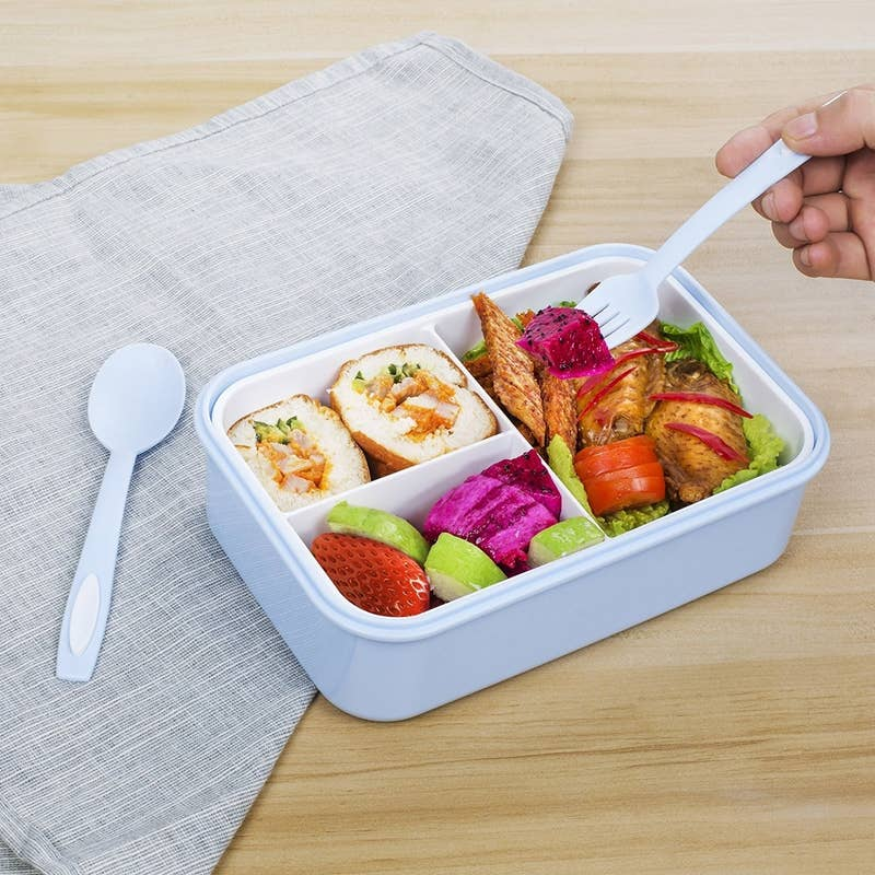 "Not to mention, a nutritious lunch will probably give you energy! Promising review: ""This is one of the best. It's super durable. The plastic is solid and strong, as well are the spoon and fork. For sealing, it has a rubber ring on the inside of the pieces to keep it completely sealed. What I love the most though is the inner dividers that can easily be removed to make one giant box, and that's perfect for me. I'm so happy with this that I might get another one."" —savvy wincelGet it from Amazon for $19.99 (available in 13 colors)."