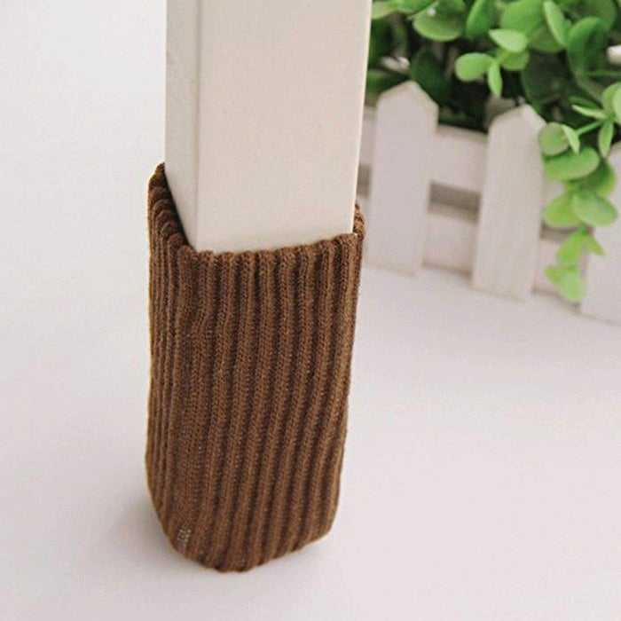 """Promising review: """"Love these chair socks! I didn't know they were even a thing until I was searching for a solution to my floors getting scratched! I used the felt pads for years but they fall off, or my kids lean back in the chairs so the corners scratch even with a pad. No more scratches since we switched to the chair socks! I barely notice them. Another benefit is we have an elderly pug who is losing her sight and runs into things a lot, and the socks cushion the blow on the bottom few inches of the chair legs."""" —MamaMoRxGet a 24-pack from Amazon for $8.99."""