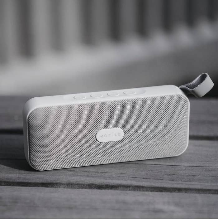 """Promising review: """"Probably one of the best purchases I've ever made online, ever. It is very light and easy to carry, yet extremely powerful. Not just powerful — extremely powerful. Pretty decent music quality, not the best but pretty decent. Good for music from all genres. Pretty rock solid and sturdy. It has a decent Bluetooth range and can even be attached to your backpack or bag while traveling. It runs for many hours after full charge. Place it in a room at max volume, and you won't be able to hear anything but the music blazing out of this baby. Go buy it! Whether you're looking for an entry-level speaker to lighten up your room or a pocket companion to take along on a trip, this is perfect."""" —anusha Price: $35 (originally $58, available in three colors)"""