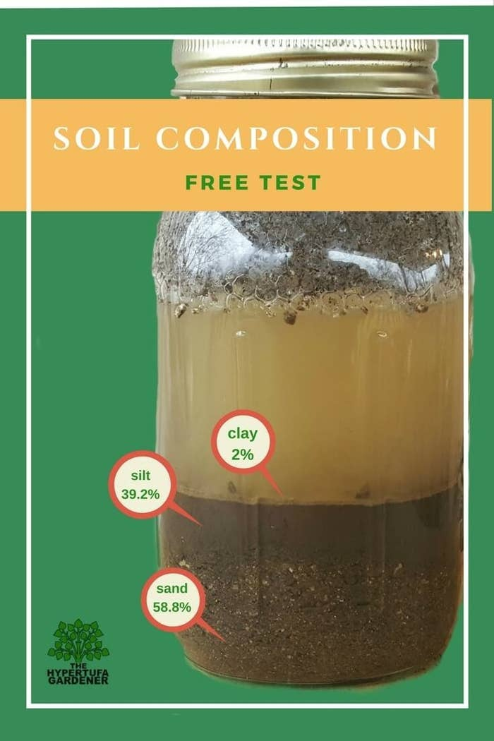 You'll also need to add a teaspoon of liquid soap! Then do some math, as described on The Hypertufa Gardener, and enter your numbers on the USDA website to find out what type of soil you have. Each type of soil is best suited to specific plants!