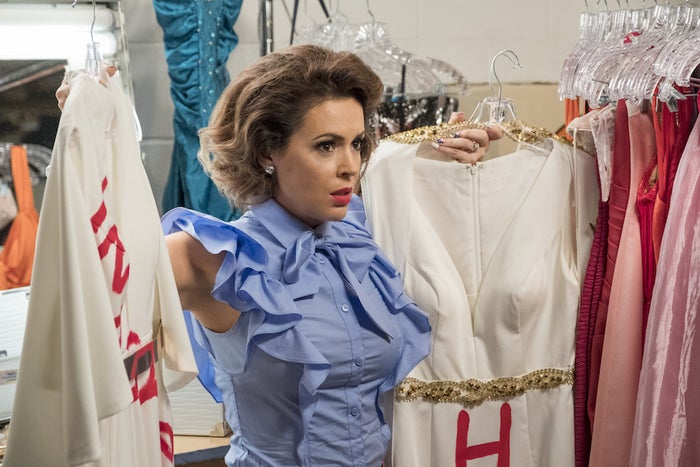 Alyssa Milano in Insatiable.