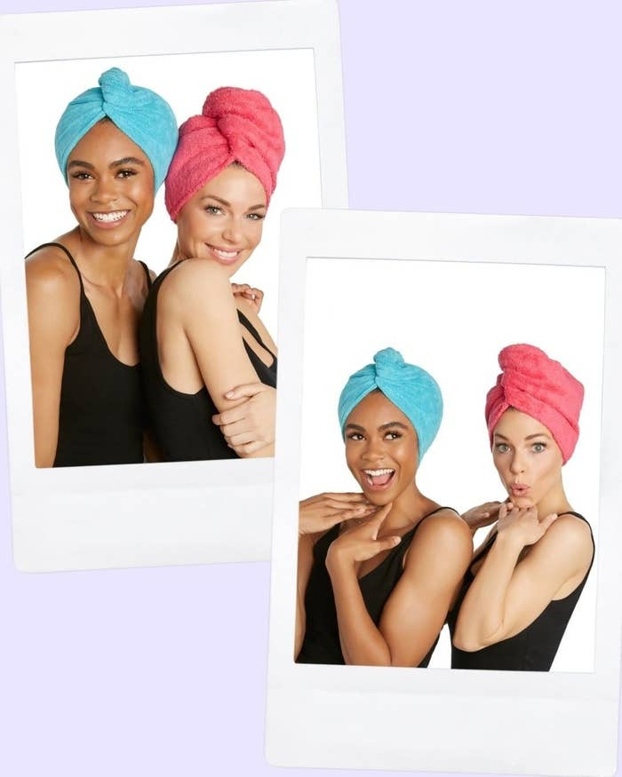 """Promising review: """"I absolutely love this hair towel. It gets all the excess water out of my hair without making it frizzy!"""" —TLRJRsmomPrice: $4.98 (for one towel, originally $6.08)"""