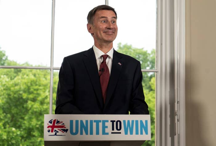 Jeremy Hunt launching his campaign for the Tory leadership on Monday morning