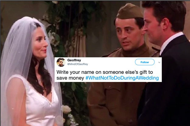 People Are Sharing Things You Absolutely Should Not Do At Weddings And It's Important