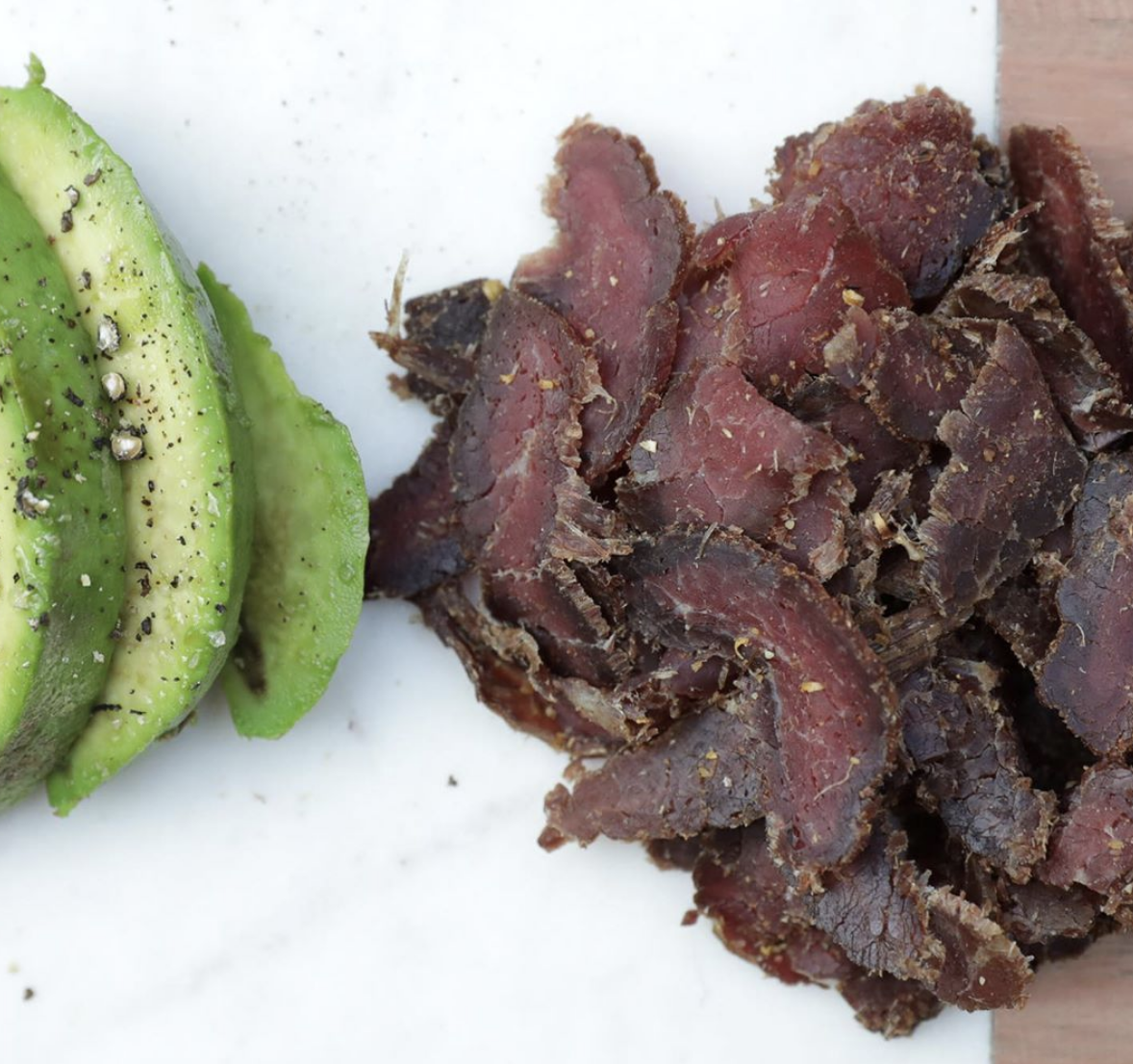 """Biltong is dried beef made with roasted coriander seeds and black pepper.""—WatercoloredLife"
