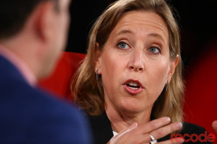 Susan Wojcicki speaks at the Code Conference on Monday.
