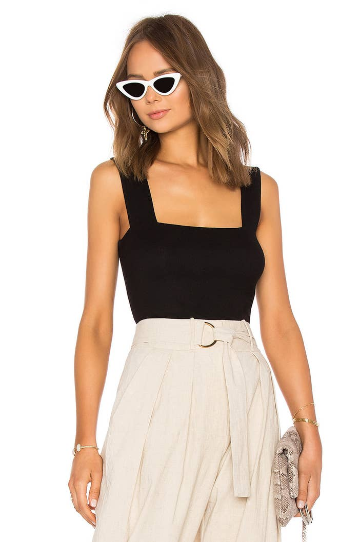"""Promising review: """"I get why everyone raves about this top, it's a perfect staple for your wardrobe. Very soft fabric and a great fit. Wish they had these in more colors!"""" —IrisPrice: $51 (available in sizes XS–L)"""