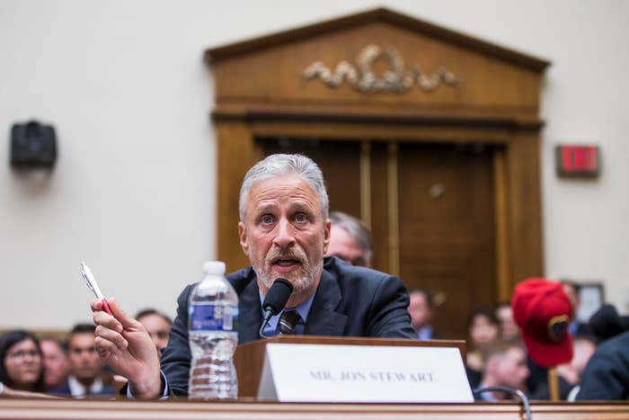 Jon Stewart Ripped Members Of Congress For Not Sitting Through A Hearing About 9/11 First Responder Benefits