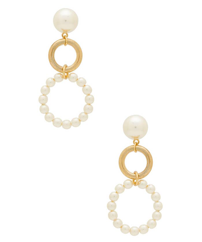 """Promising review: """"Lightweight, beautiful earrings. Not too heavy and just as pictured."""" —Revolve ShopperPrice: $35"""