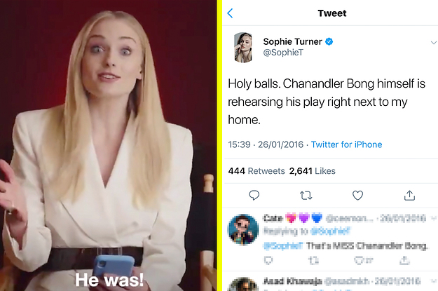 Sophie Turner Just Explained How She Tried To Get Matthew Perry To Ask Her Out And It's Honestly Hilarious