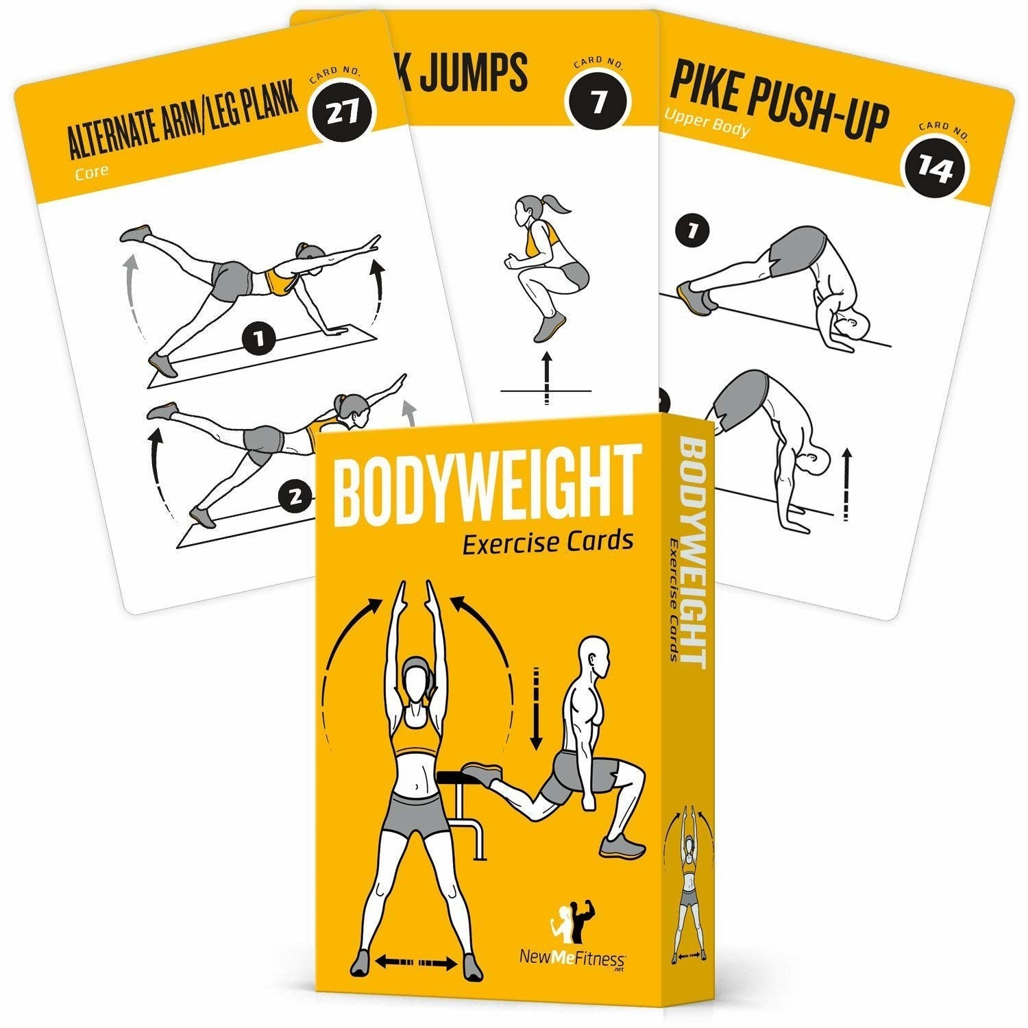 the pack of bodyweight exercise cards