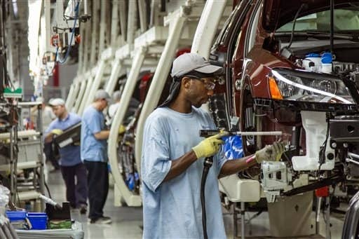 Workers at the Volkswagen plant in Chattanooga, Tennessee.