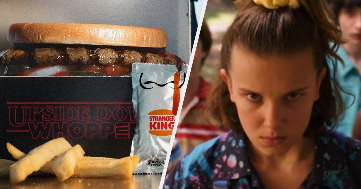 """Burger King Is Literally Serving An Upside Down Whopper To Celebrate """"Stranger Things"""" Season 3"""