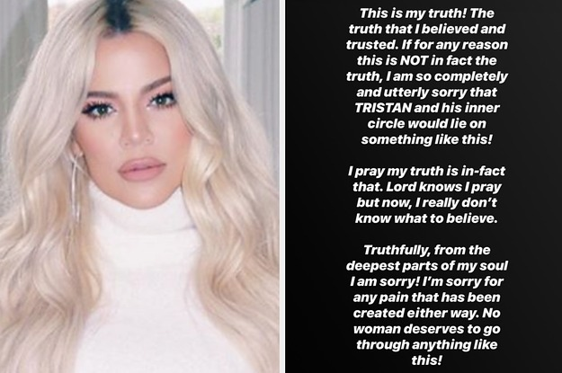 Khloé Kardashian Responded To Claims Tristan Cheated On His Pregnant Ex With Her