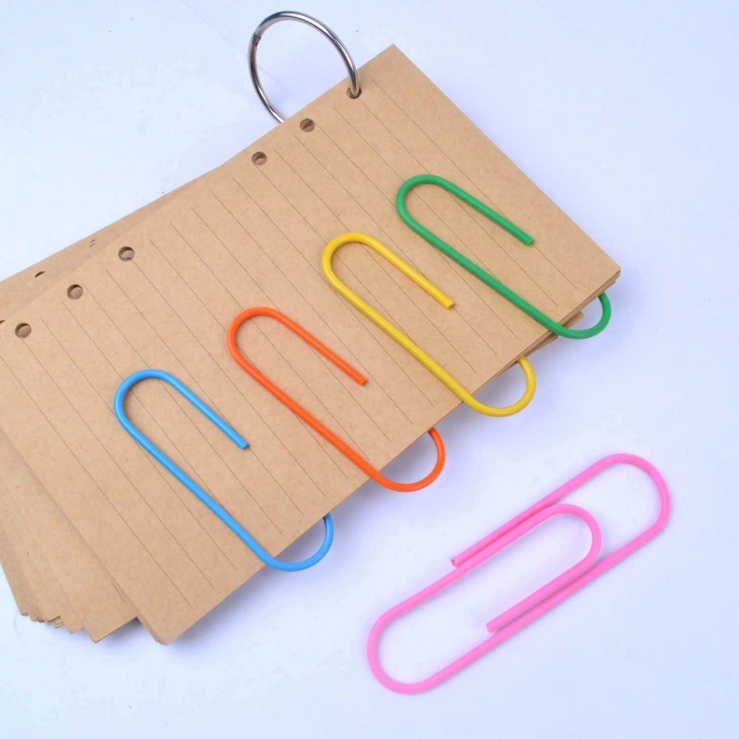 large paperclips in different colors