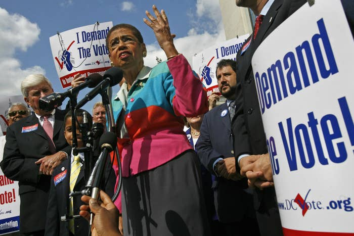 Washington, DC, Del. Eleanor Holmes Norton has been pushing for statehood for years.