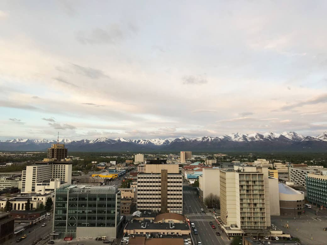 Downtown Anchorage.