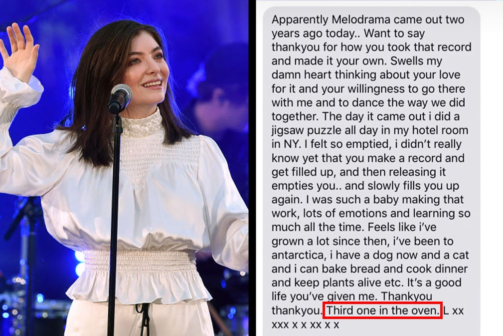 Lorde Just Confirmed That A Third Album Is In The Works And I Actually Screamed Out Loud