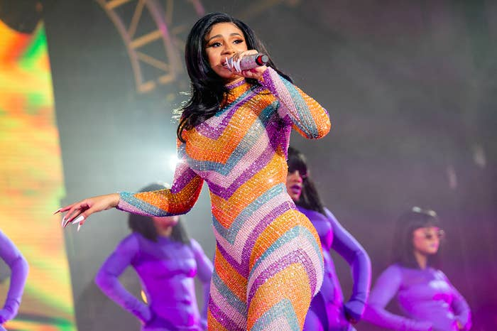 Cardi B Had To Perform An Entire Concert In A Hotel Bathrobe After A Wardrobe Malfunction And It's Too Funny