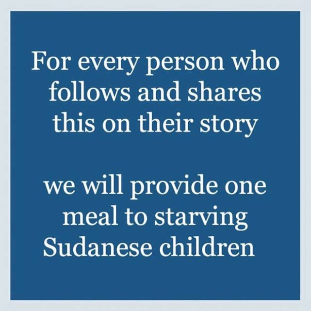 An Instagram Post Promising To Give Food To Sudanese Children Got Over A Million Likes But It's Fake