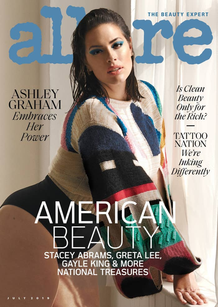 6131a6bab4c0f Here we have Ashley Graham on the cover of this month's Allure looking all  kinds of fabulous.