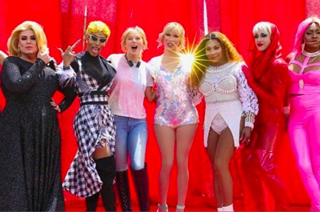 Here's What The Drag Queens In Taylor Swift's New Video Had