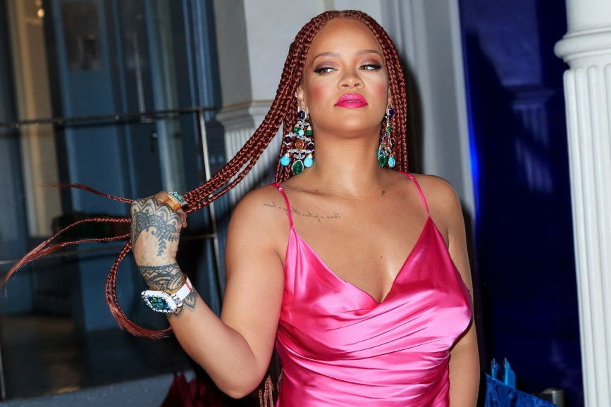Rihanna Has Red Box Braids And Nothing Else Matters Today