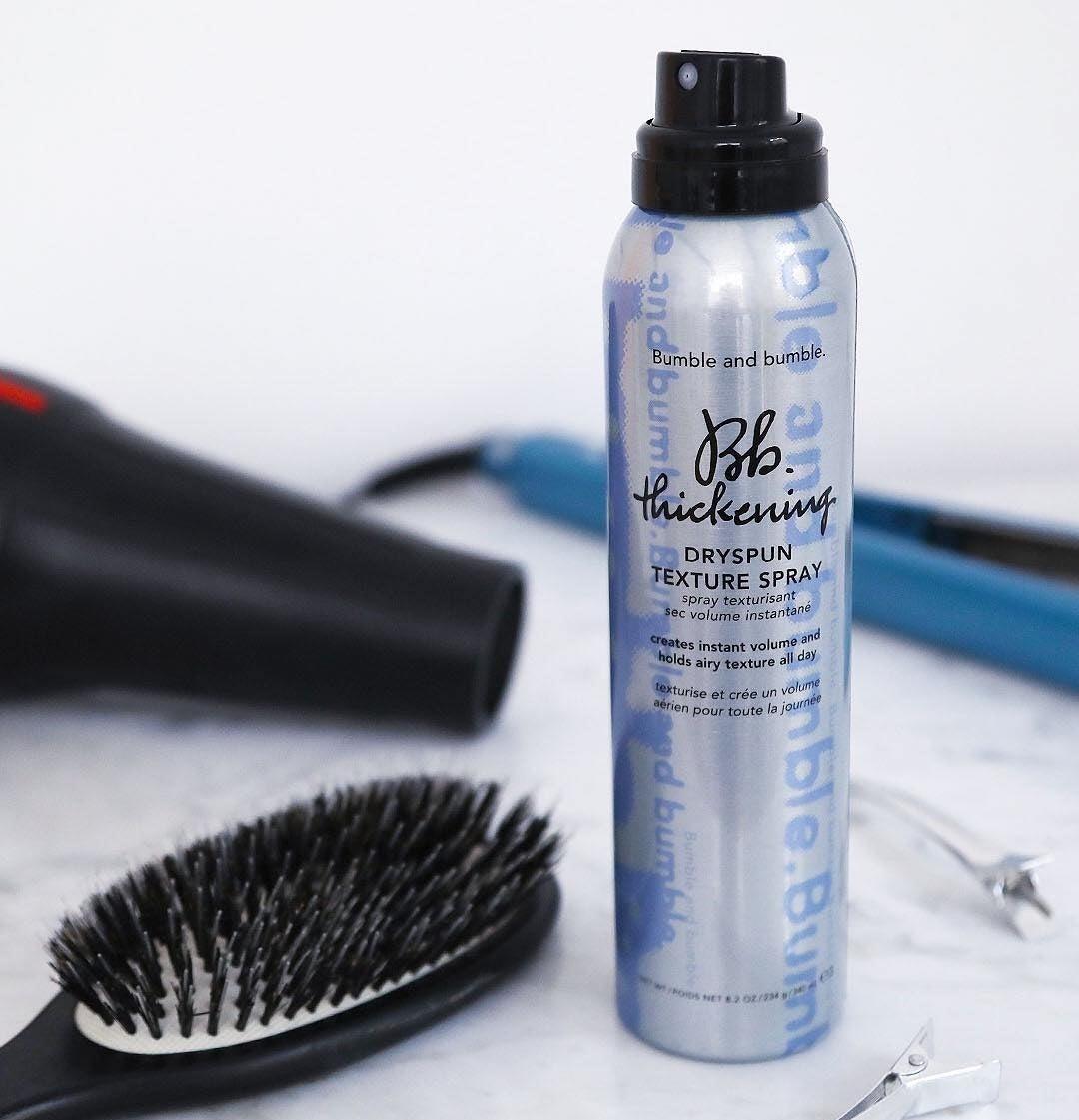 Close-up shot of Bumble and Bumble's Dryspun Texture Spray