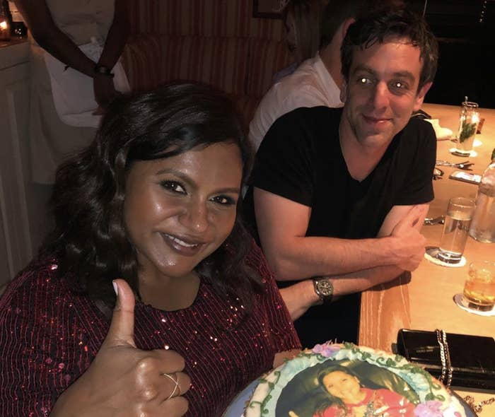The Way B.J. Novak Looks At Mindy Kaling In This Pic He Posted Of Them For Her Birthday Melts My Heart