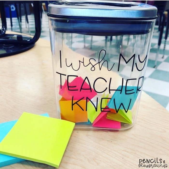 tips and tricks teachers of all grades actually swear by on the first day of class assign an i wish my teacher knew in class  essay or set up a year round jar with some sticky notes