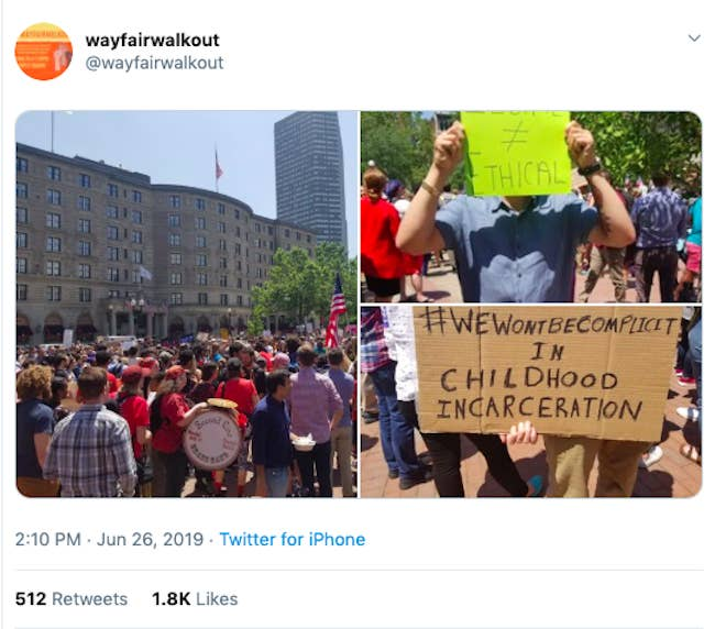 Wayfair Workers Walked Out To Protest The Company's Sale Of