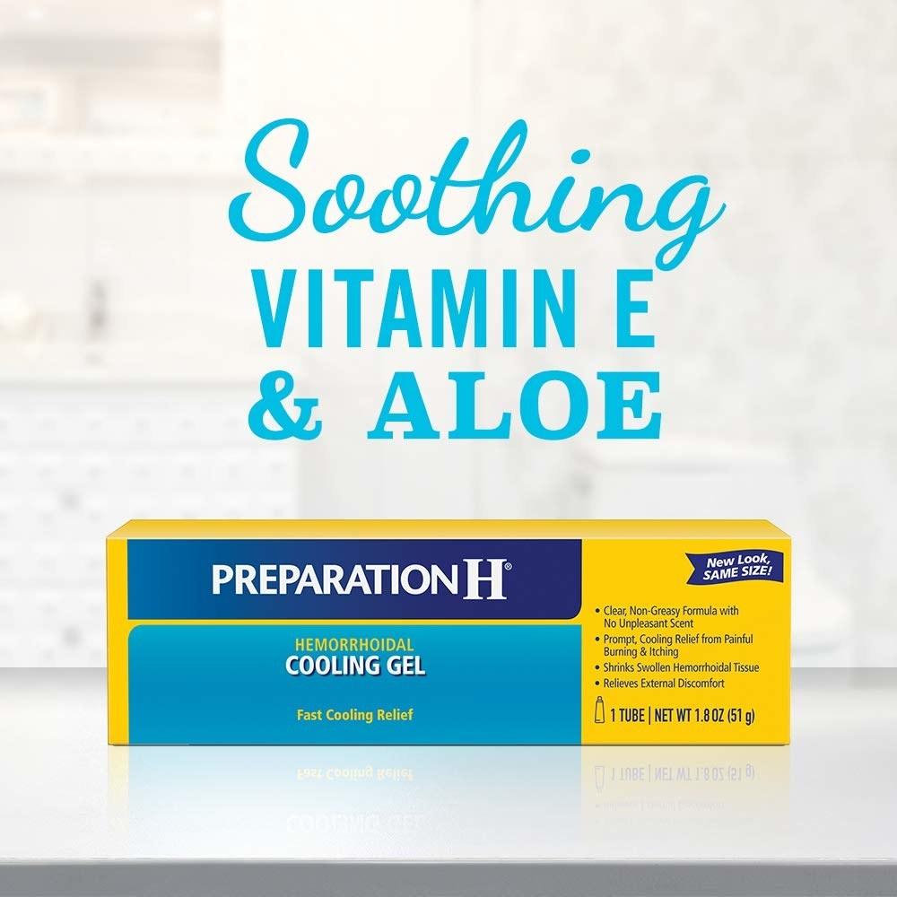 box of preparation H hemorrhoidal cooling gel