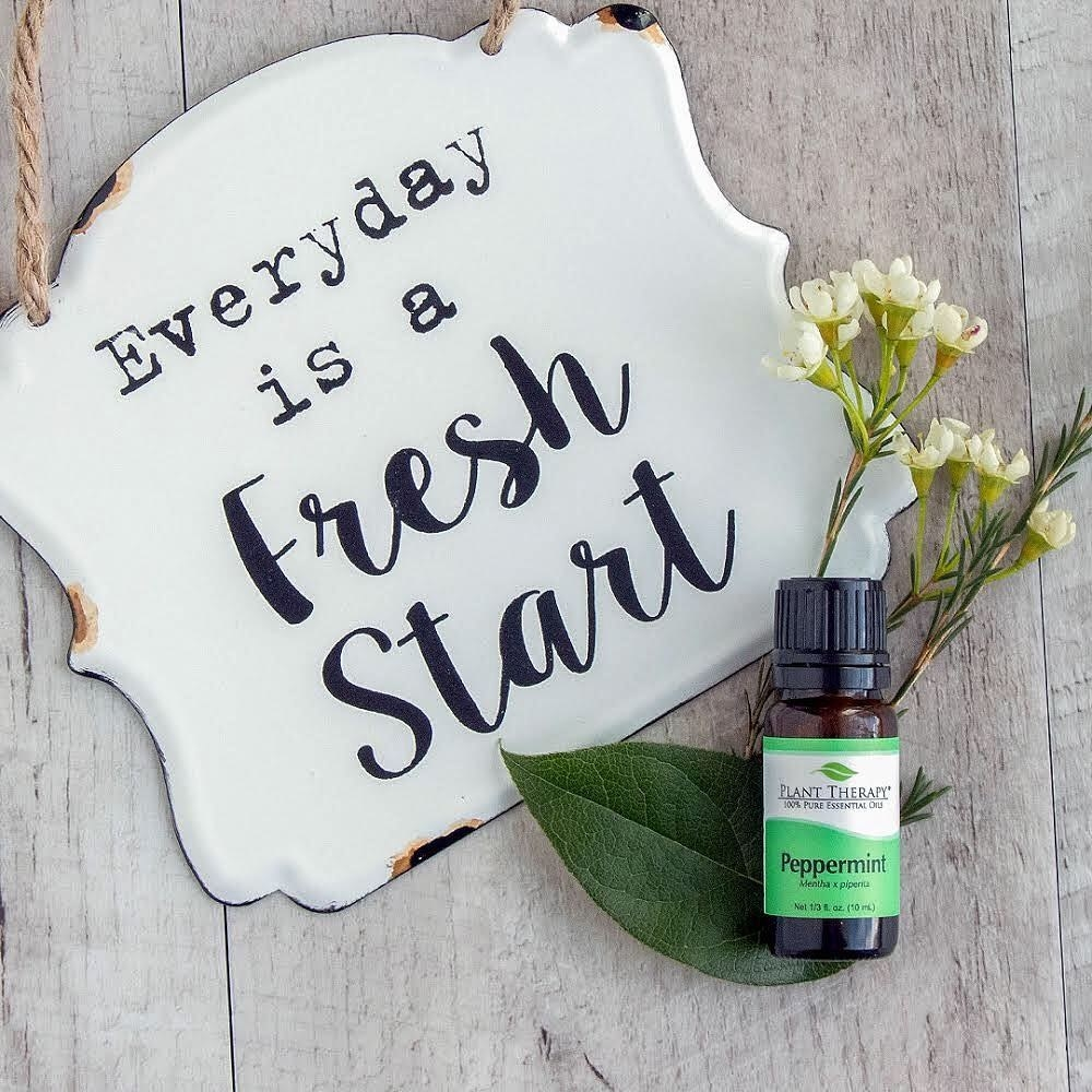 the bottle of essential oil