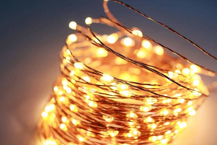 coiled wire string lights