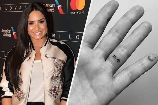 3c7dc4acd Demi Lovato's Teeny Tiny Tattoo Is A Perfect Reminder To Put Yourself First