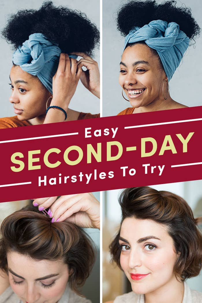 21 Easy Second-Day Hairstyles You Can Do In Five Minutes