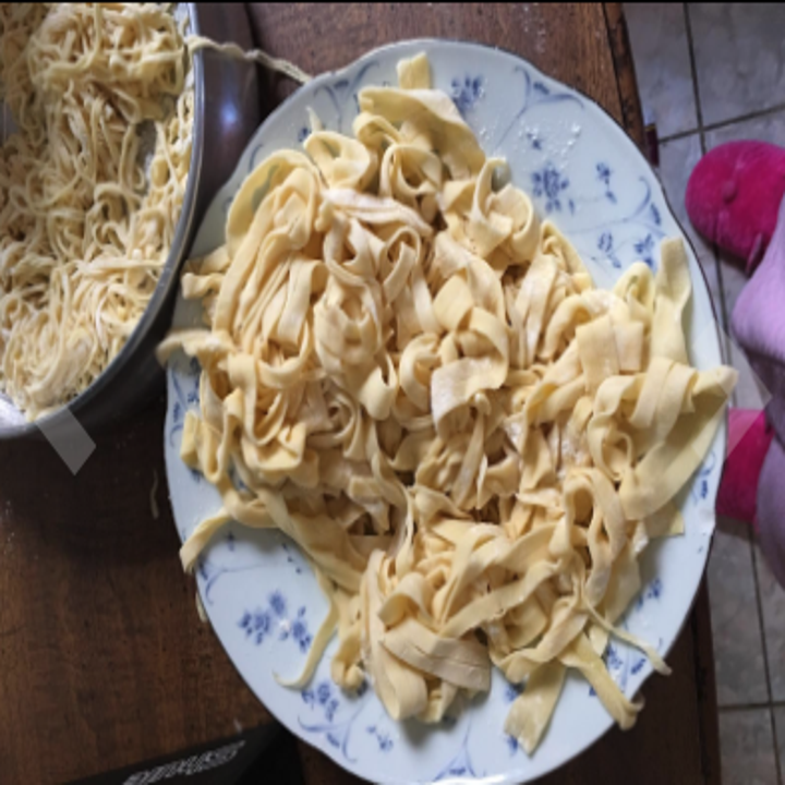 a reviewer photo of fresh made pasta