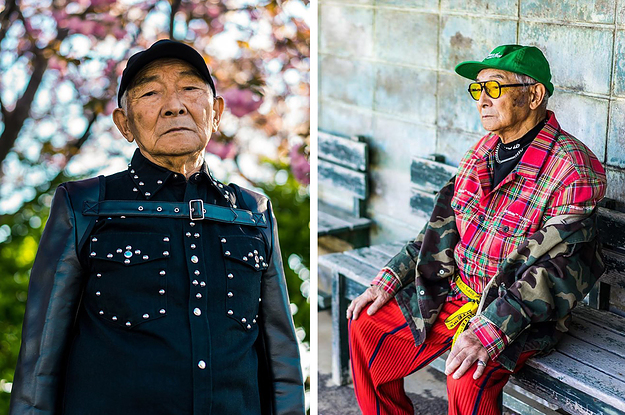 This 84-Year-Old Japanese Grandpa Let His Grandson Dress Him And Now He's Modeling On Instagram